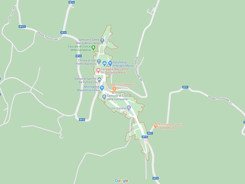 Mappa Conca della Campania
