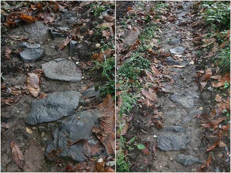 La pavimentazione della Via Francigena