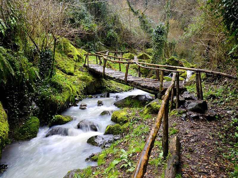 Ponte in legno sul Rivo di Conca