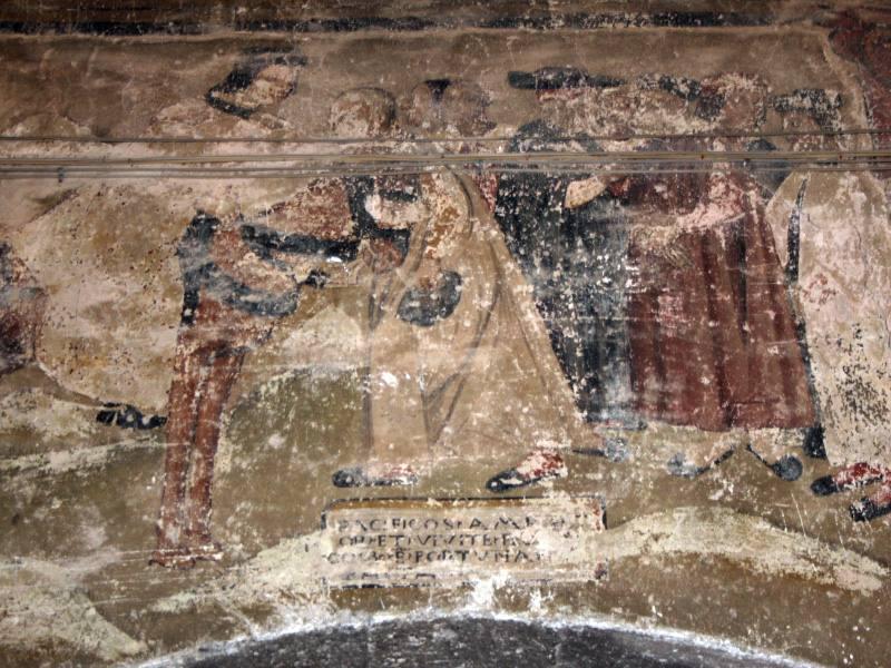 Affresco del Vestibolo del Palazzo Principesco di Conca
