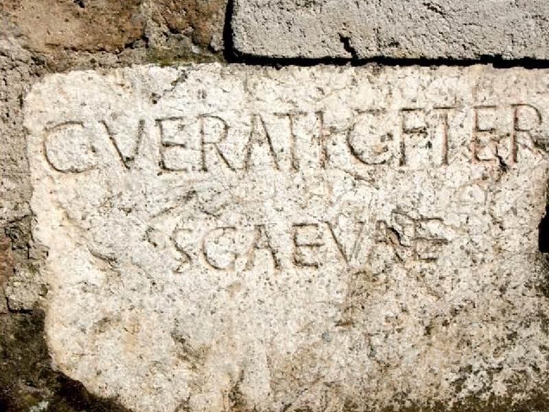 Epigrafe di epoca romana a Cave