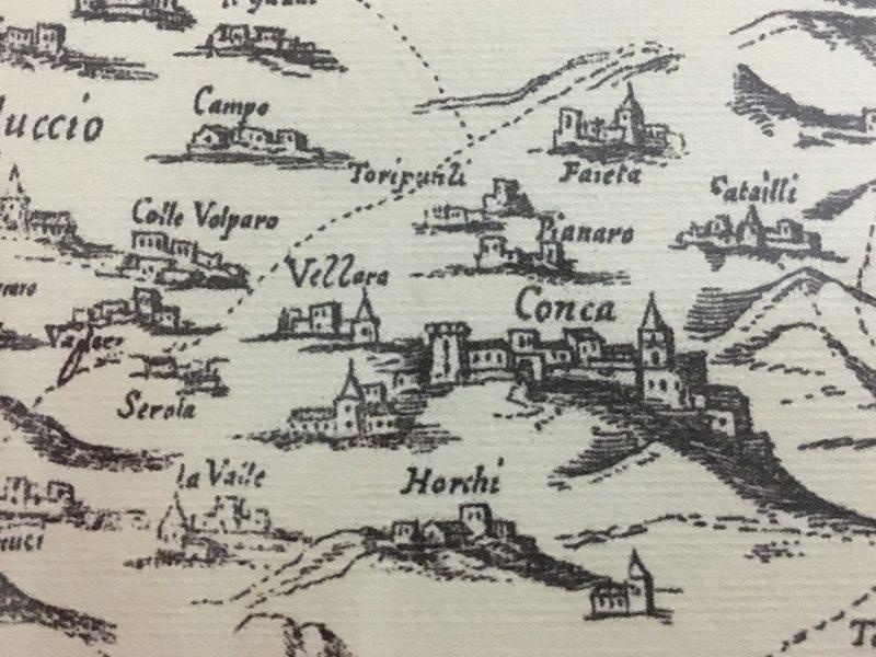 Estratto carta topografica Giovanni de Guevara