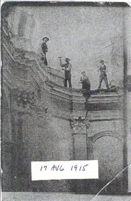 Lavori di restauro alla chiesa di San Pietro Martire di Orchi nel 1915