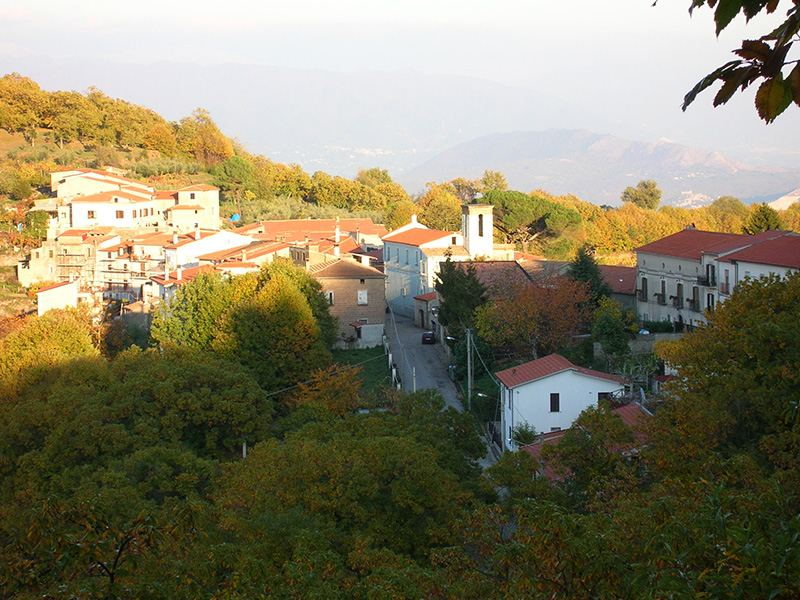 Panorama della frazione Orchi di Conca della Campania