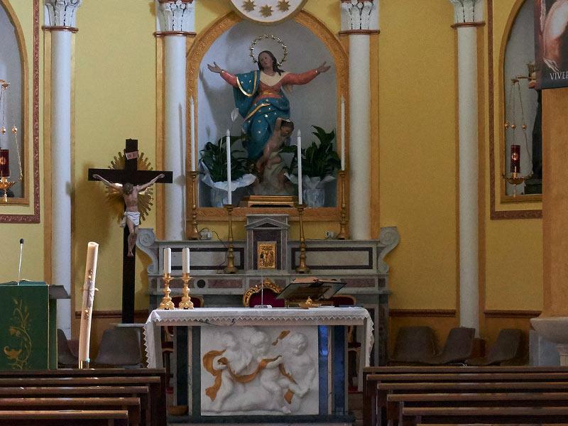 Chiesa di Sant'Antonio Abate - Altare Maggiore e Statua di Maria SS Assunta