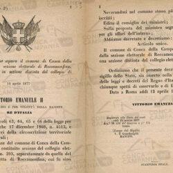 Regio Decreto 3764 del 12 aprile 1877