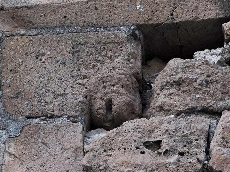 Protrome leonina del portalino di sinistra