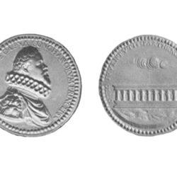 Dritto e rovescio della medaglia commemorativa di Matteo de Capua – dal Bollettino Numismatici Napoletano 1956