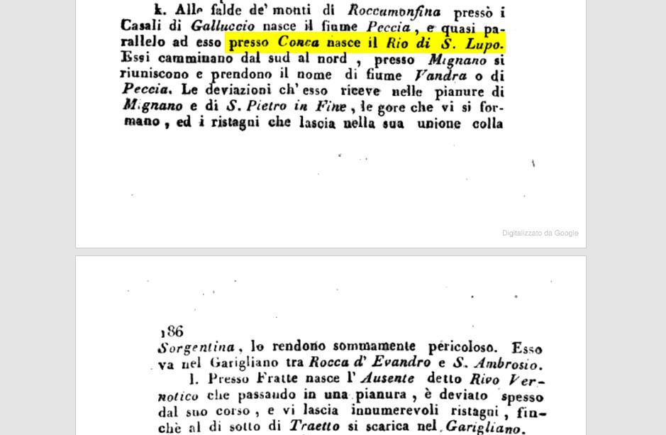 Osservazioni sulla topografia-medica del Regno di Napoli: Cenni …, Volume 2 Di Salvatore De Renzi, pagg. 185 e 186.