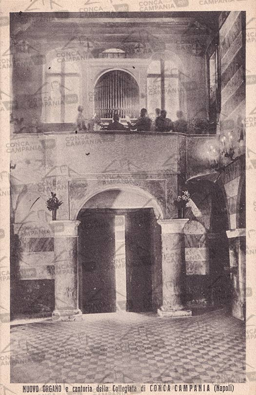 La cartolina postale per il nuovo organo e la cantoria della Collegiata di Conca Campania