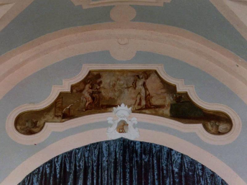 Affresco sull'arco di trionfo nella chiesa dell'Annunziata