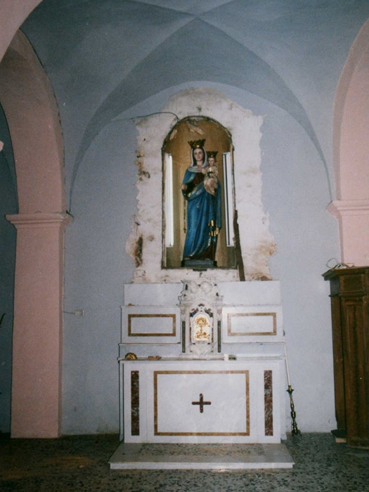 Cappella del SS. Rosario dopo il furto del 6 febbraio 1994