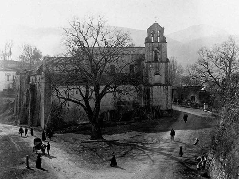 Complesso della chiesa dell'Annunziata ai primi del XX secolo