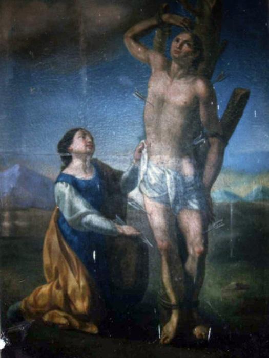 Chiesa dell'Annunziata di Conca della Campania - Tela di San Sebastiano