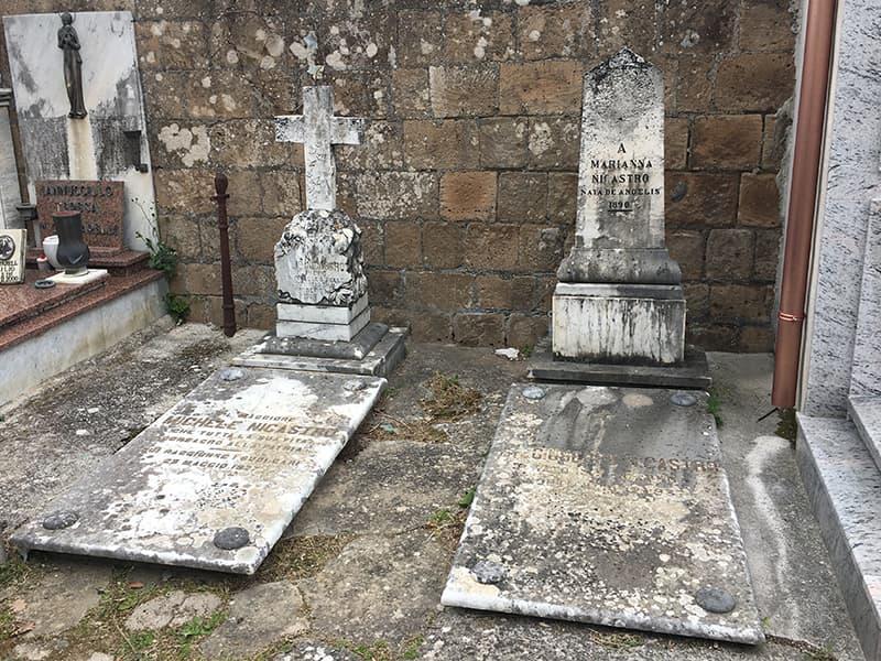 La tomba del dottor Giuseppe Nicastro e di alcuni suoi familiari nel Cimitero di Conca della Campania