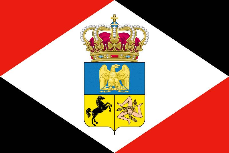 Prima bandiera murattiana del Regno di Napoli