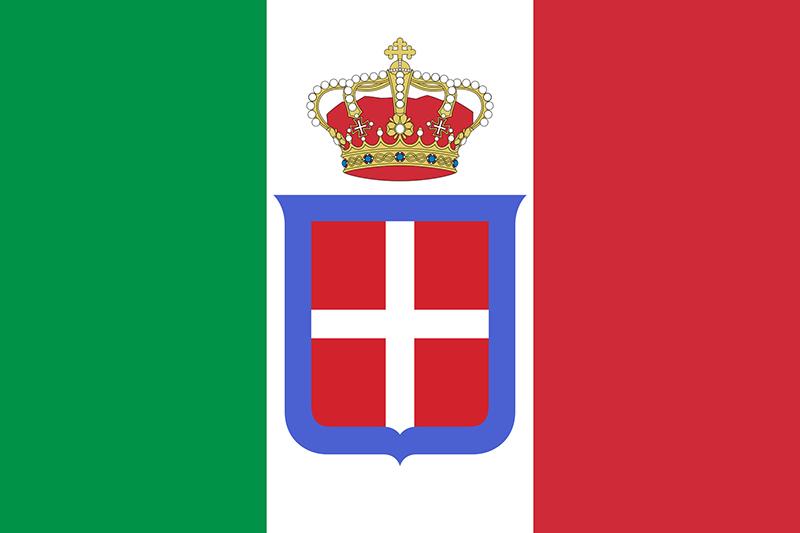 Tricolore sabaudo - Bandiera del Regno d'Italia