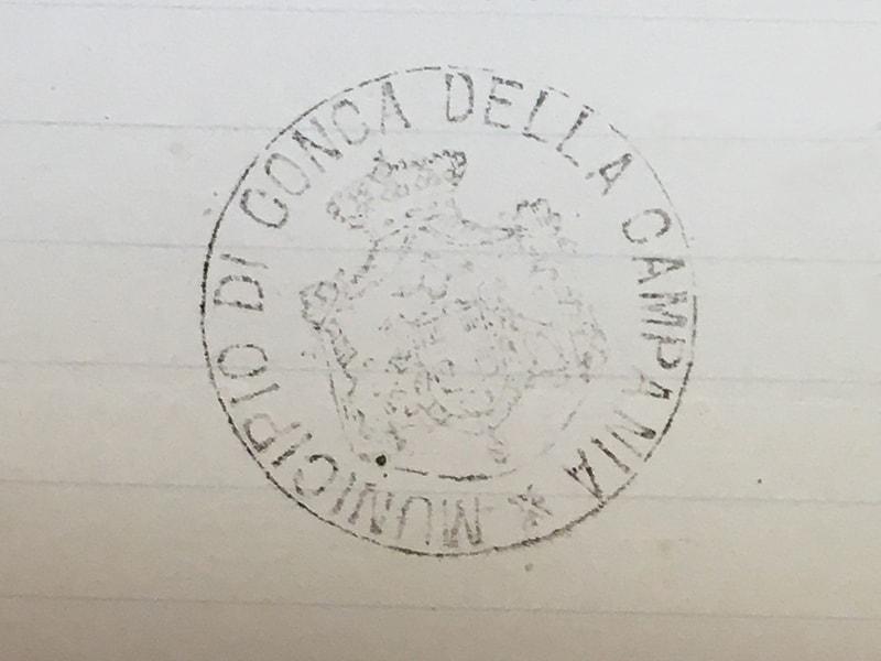 Timbro del Municipio di Conca della Campania nel 1910