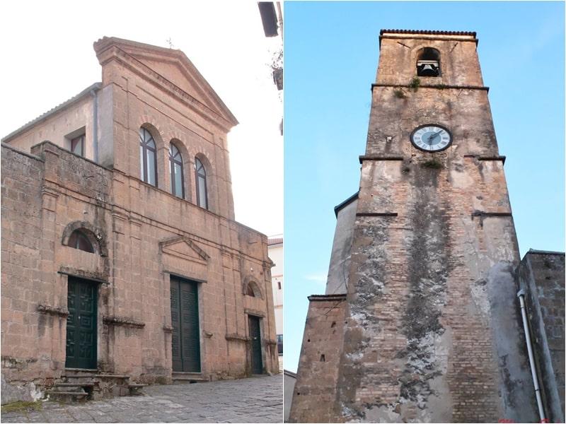 Facciata e campanile della chiesa di San Pietro