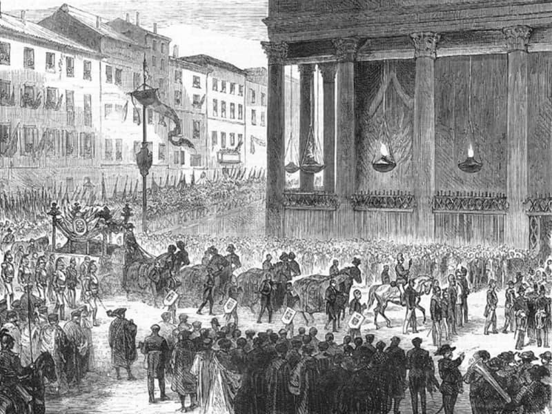 funerali di Vittorio Emanuele II al Pantheon