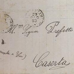 Lettera al Prefetto di Caserta - Guardie Campestri Conca