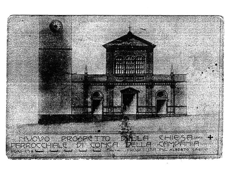 Nuovo prospetto della chiesa parrocchiale di Conca della Campania ing. Alberto Carino