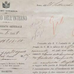 Decreto di scioglimento del Consiglio di Conca della Campania nel 1876